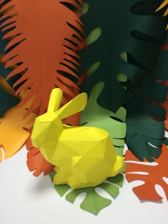 Полигональная фигура зайца