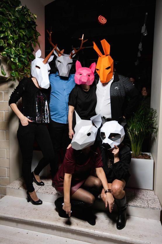 Полигональные маски животных