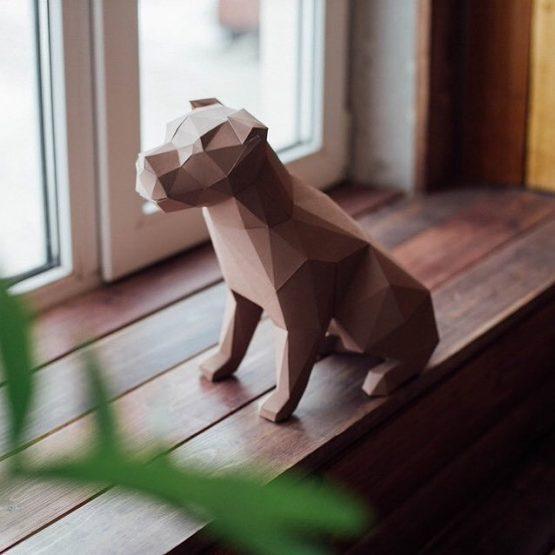 Полигональная фигура собаки