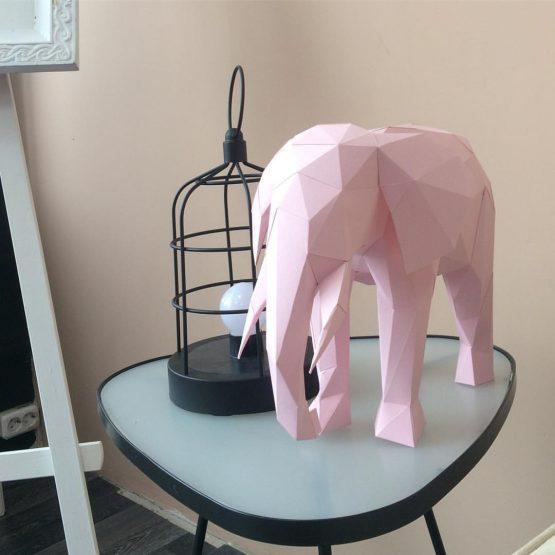Полигональная фигура слона