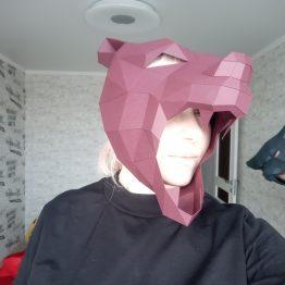 Полигональная маска медведя