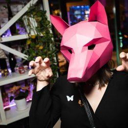 Полигональная маска лисы