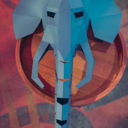 Полигональная маска слона