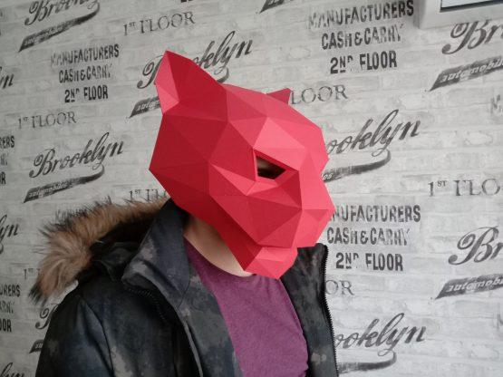 Полигональная маска ягуара