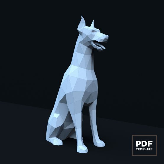 Doberman papercraft