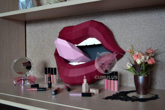 Lips papercraft template