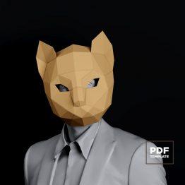 Cat mask papercraft