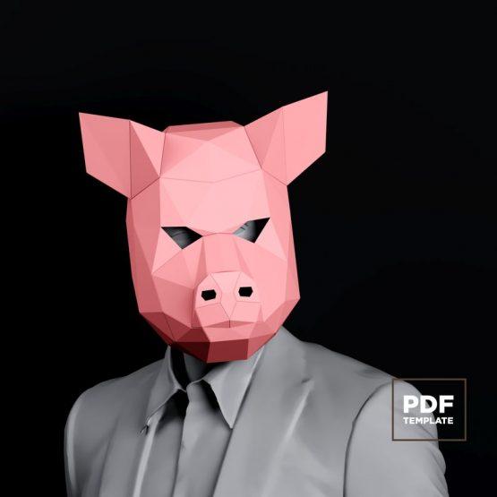 Pig mask papercraft