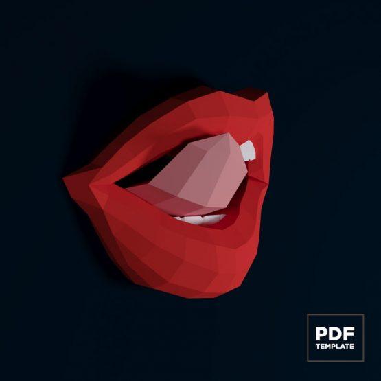 Lips papercraft