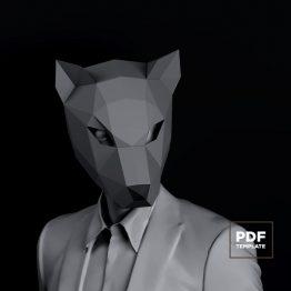 Wolf mask papercraft