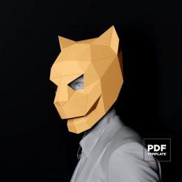 Jaguar mask papercraft