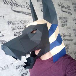 Anubis mask papercraft