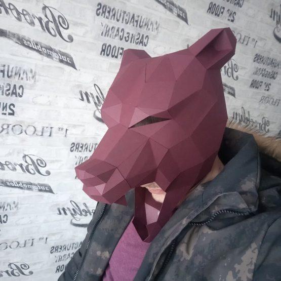 Bear mask papercraft
