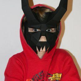 Demon mask papercraft