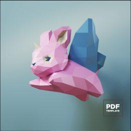 Bunny unicorn butterfly papercraft