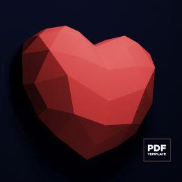 heart papercraft