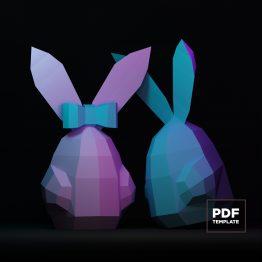 Rabbit papercraft
