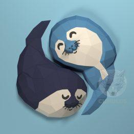 Seal Pups papercraft