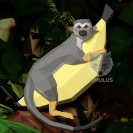 Monkey papercraft