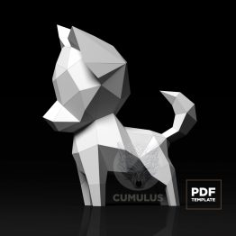 Dog papercraft