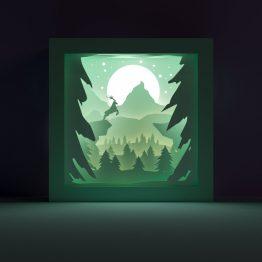 Deer lightbox