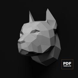 pitbull papercraft