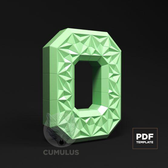 Number zero papercraft