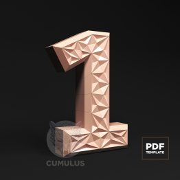 Number one papercraft