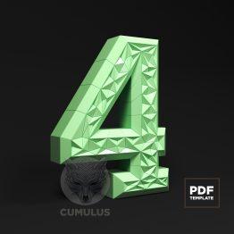 Number four papercraft