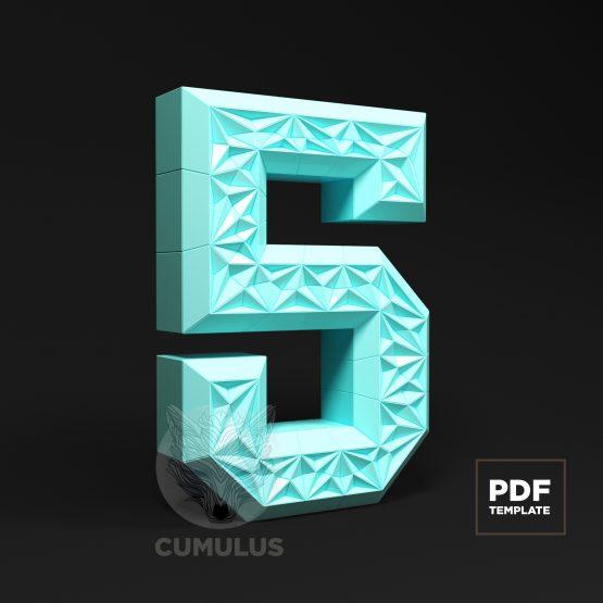 Number five papercraft