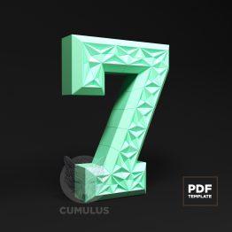 Number seven papercraft