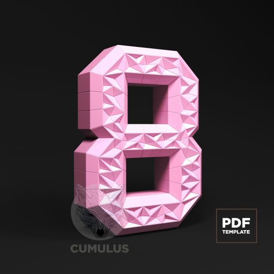 Number eight papercraft