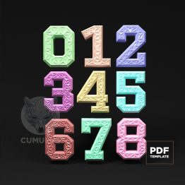 Numbers papercraft