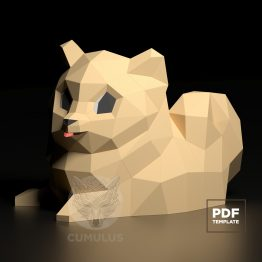 puppy papercraft