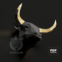 bull papercraft