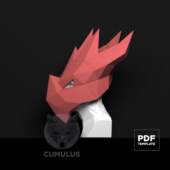 dragon mask papercraft