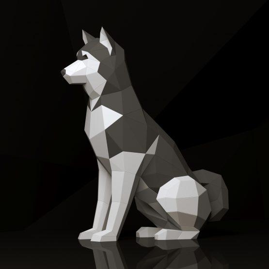 husky papercraft