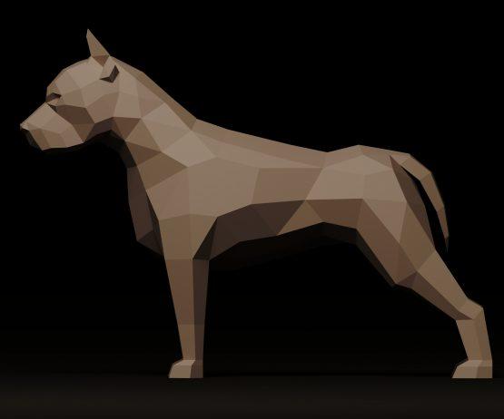 pit bull papercraft